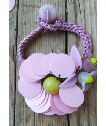Kit Fiore di Paillettes rosa - con filo
