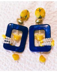 Orecchini Cornici Blu Jasmine