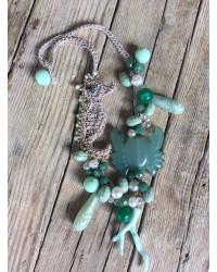Kit resine Girocollo Granchio verde acqua ( senza filo )