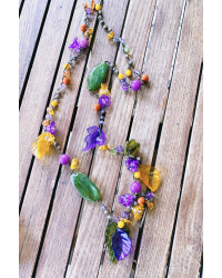 Kit collana uncinetto Autunno 2021 - fiorellini e foglie