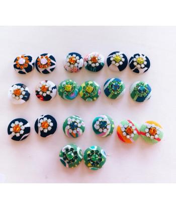Bottoni senza asola decorati per orecchini