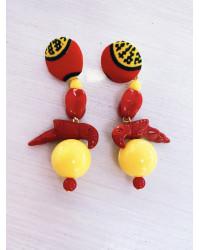 Kit orecchini Euforia Pappagalli rossi