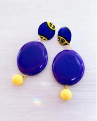Kit orecchini Euforia Viola e giallo