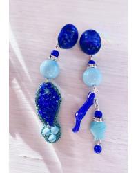 Kit Orecchini Pesciolino in tessitura - Blu e Tiffany