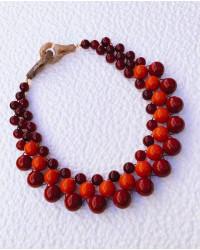 Kit collana Intreccio Rosso acero-arancio e ribes