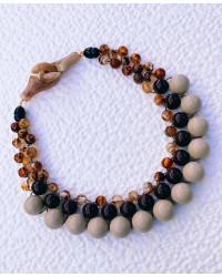 Kit collana Intreccio Sabbia-marrone-tartaruga variegato