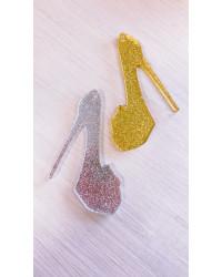 Scarpa con tacco Glitter - plexiglass