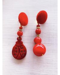 Orecchini Coccinella rosso portafortuna