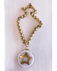 Collana stella e catena rollo' oro opaco